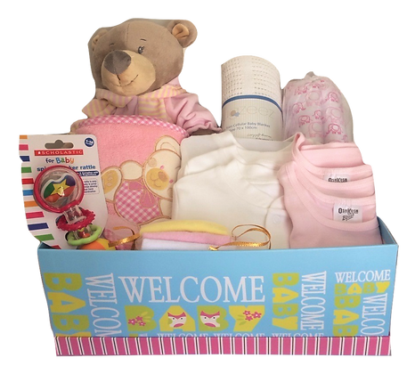 Lisa the Pink sleepsuit bear in box