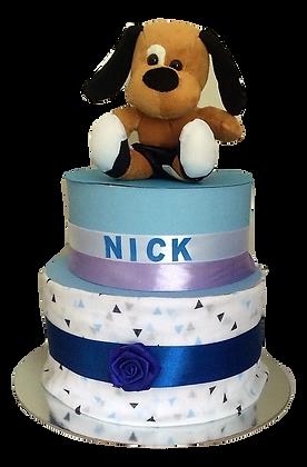 Nick Dog 2 tier cake