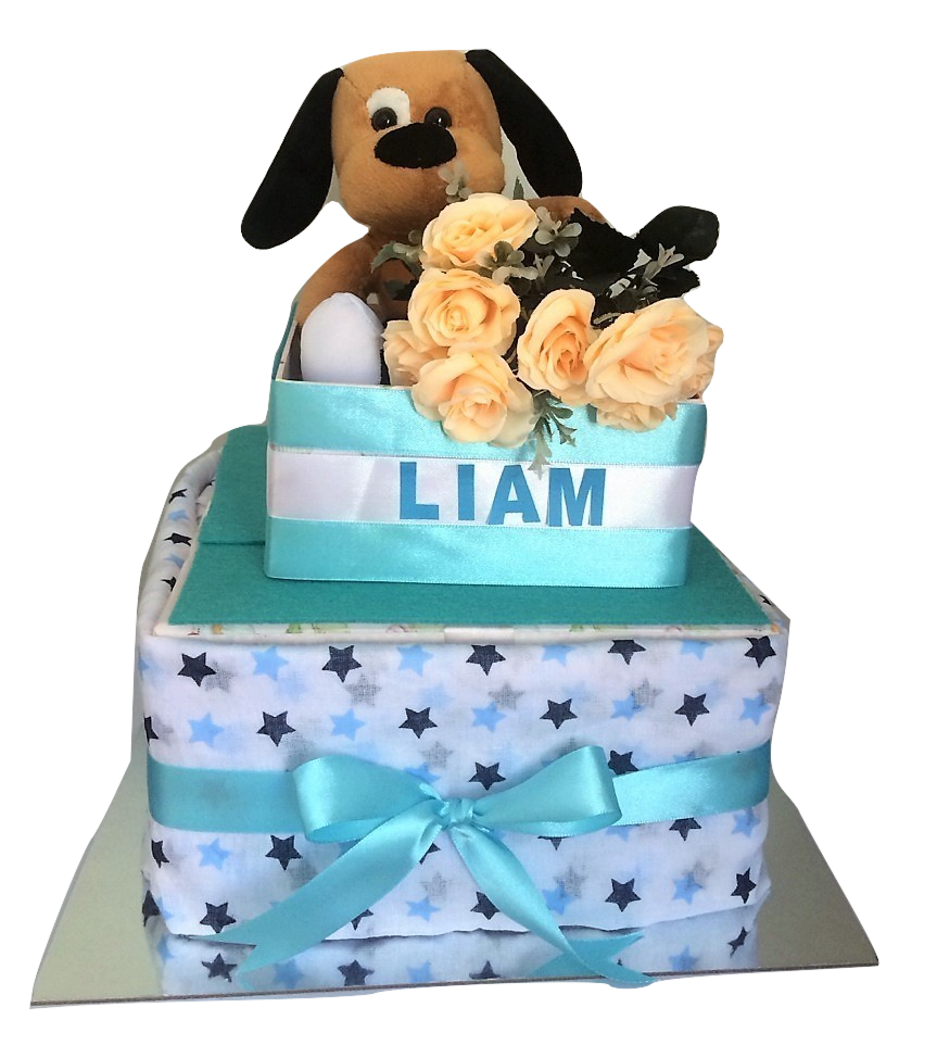 Square Cake 2 tier dog