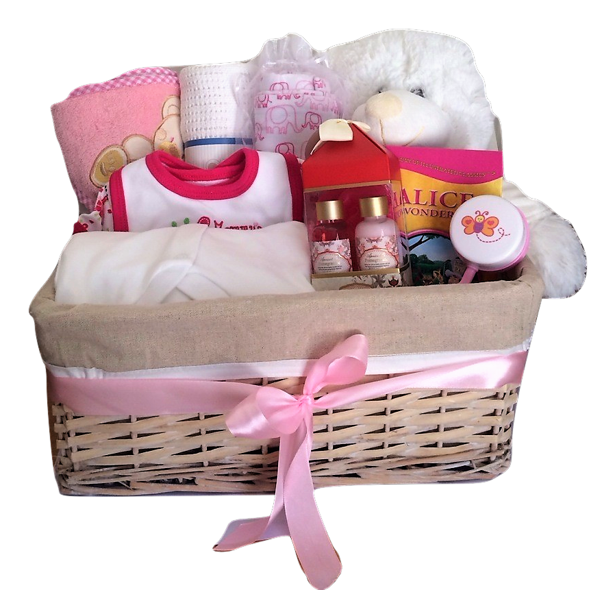 Hamper basket white bear