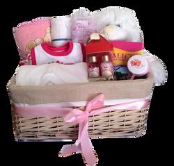 Hamper basket white bear