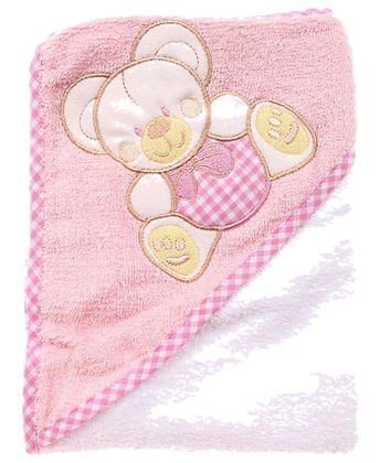 Snugzeez hooded towel pink