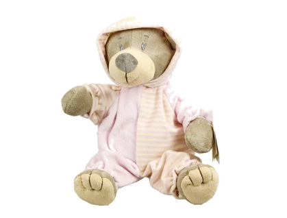 Pink bear with sleepsuits