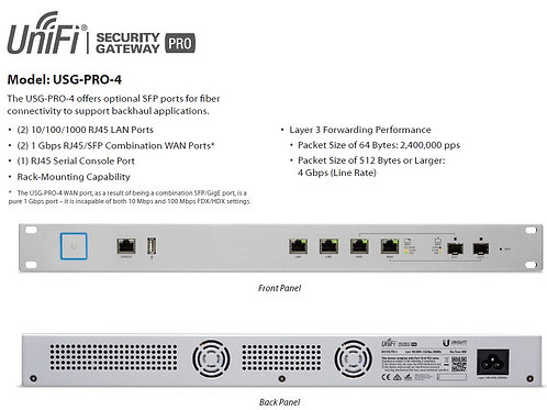 Ubiquiti Security Gateway - USG Pro 4 Firewall