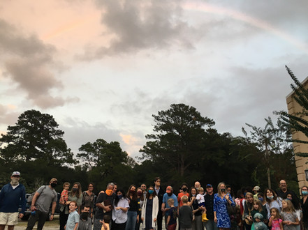 Rainbow after the baptism service