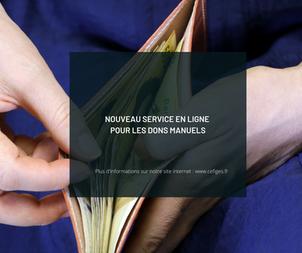Un nouveau service en ligne pour déclarer vos dons manuels