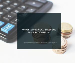 Augmentation automatique du SMIC dès le 1er octobre 2021