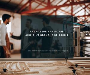 Travailleur handicapé : Une aide à l'embauche de 4000€