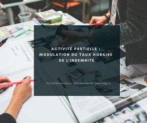 Activité partielle : Modulation du taux horaire de l'indemnité