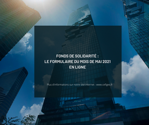Fonds de solidarité :  le formulaire du mois de mai 2021 en ligne