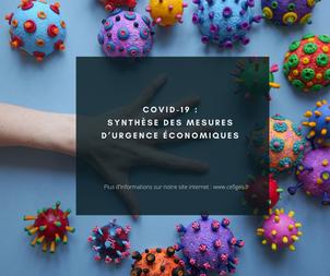 Covid-19 : Synthèse des mesures d'urgence économiques