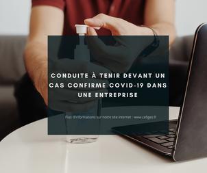 Procédure à tenir devant un cas confirmé COVID-19 dans une entreprise