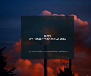 TGAP : Les modalités de déclaration