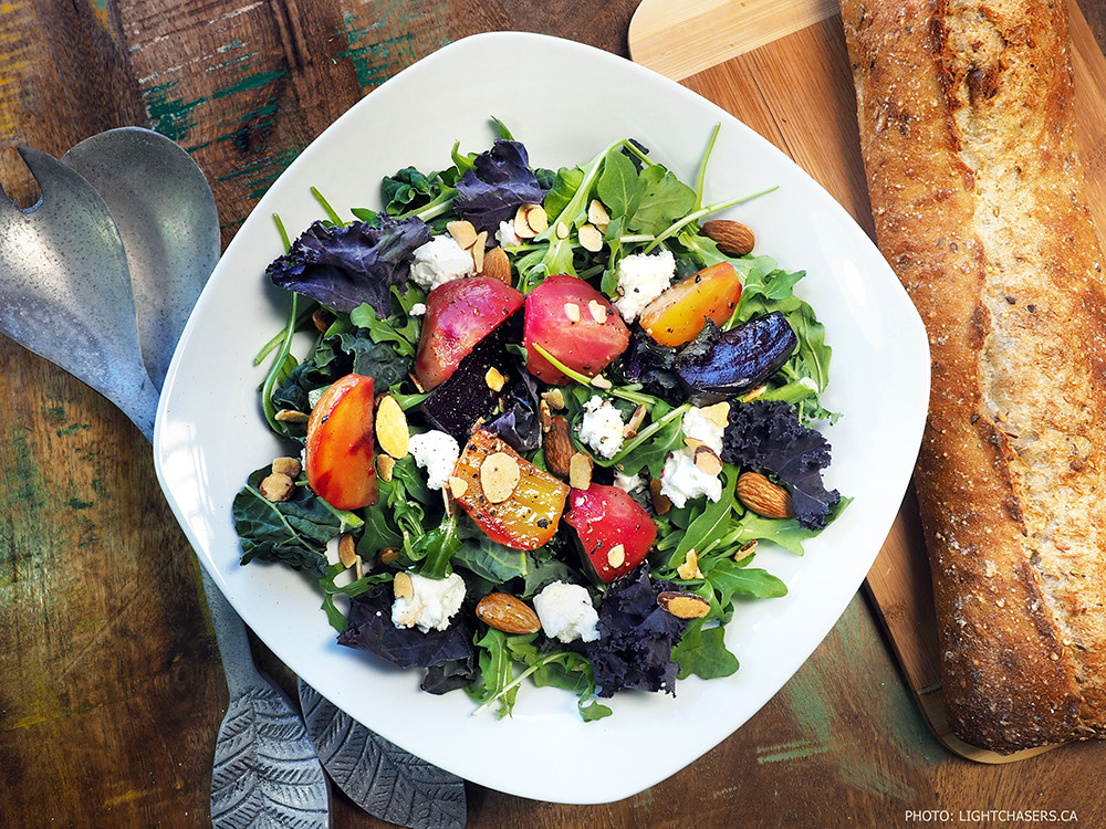 Lightchasers Roasted Beet and Goat Cheese Salad Recipe