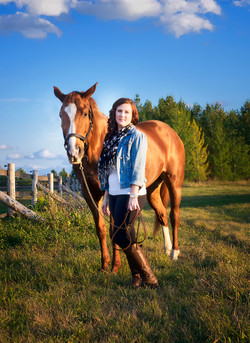 Erin and Epona at Pinewood Stables