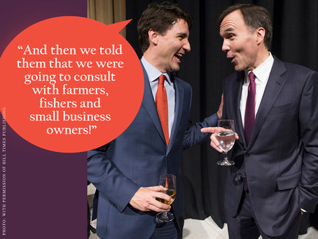 HAPPY ANNIVERSARY MESSRS. TRUDEAU AND MORNEAU