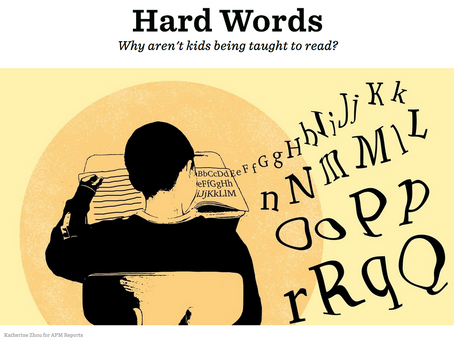 Hard Words: Why Aren't Kids Being Taught to Read?