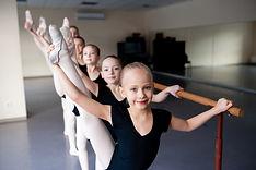 Stretching, Children in Ballet Dance Cla