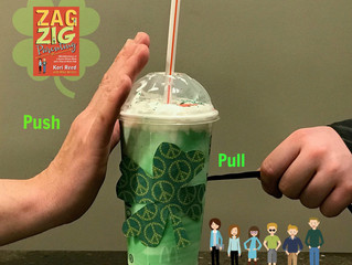 Push-Pull, Parenting Perils of Raising Young Adults and a Shamrock Shake