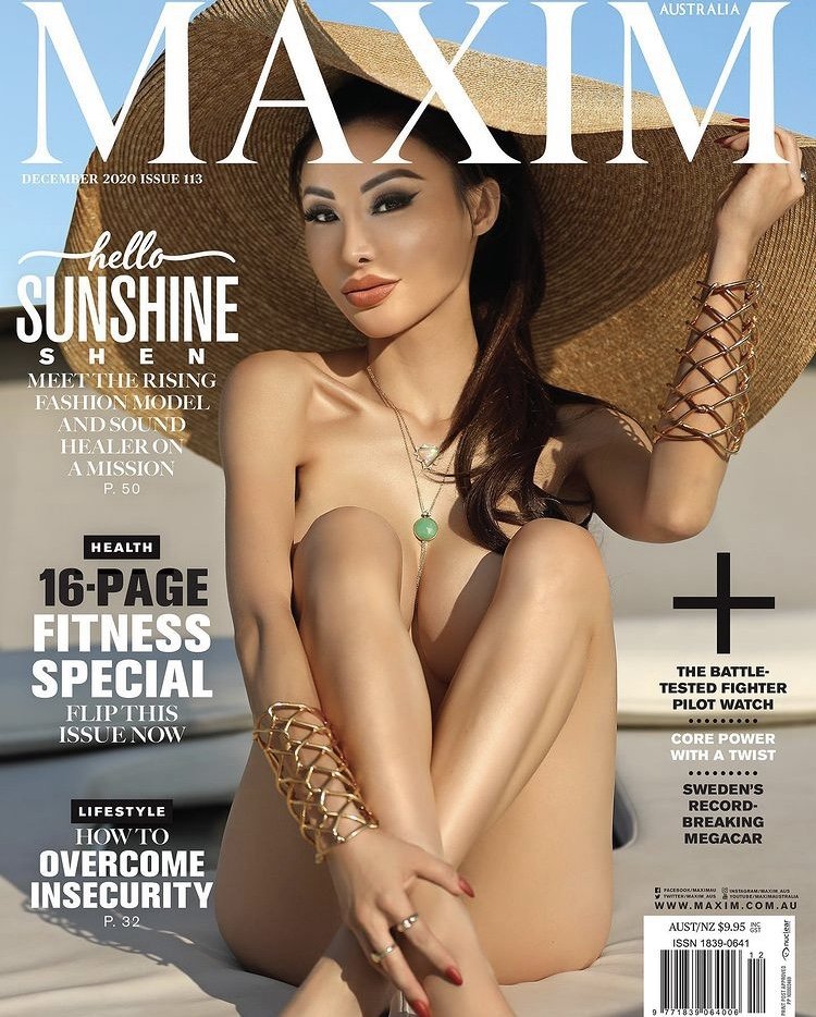 Sunshine Shen For Maxim Australia