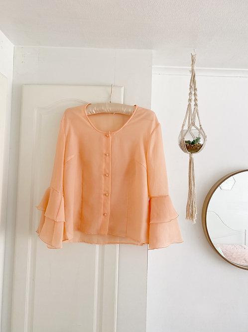 Vintage Peach Blouse