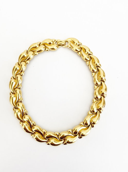 Vintage Signed Vogue Bijoux Collar Necklace