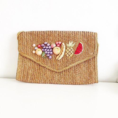 Vintage Raffia Fruit Bag