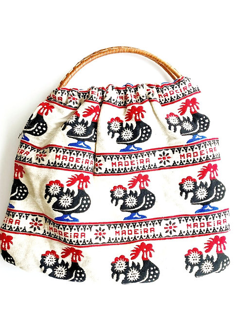 Vintage Printed Fabric Bag