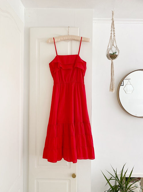 Vintage Red Ruffle Sundress