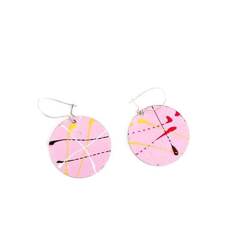 Vintage Disc Drop Earrings