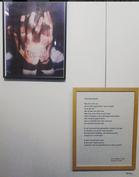 Gedicht tentoongesteld in de bibliotheek van Brasschaat