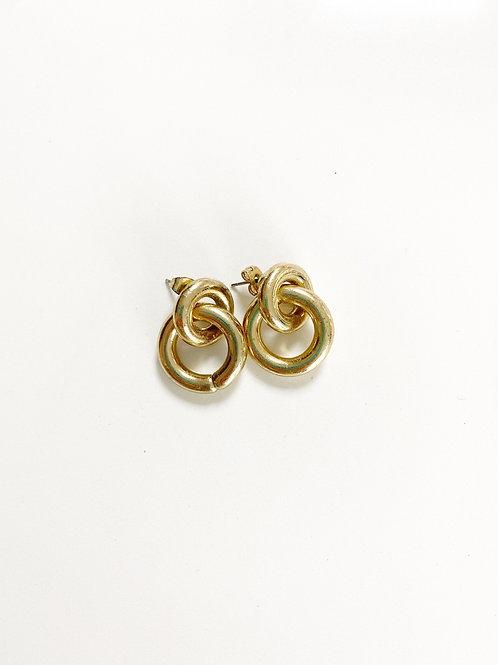 Vintage Gold Tone Interlinked Earrings