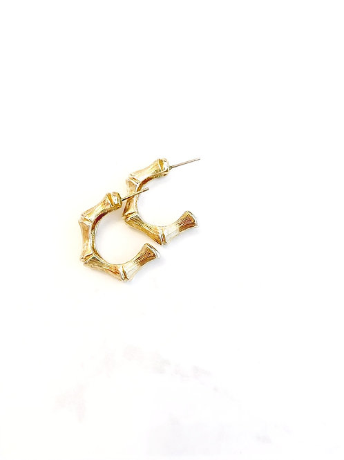 Vintage Bamboo Style Hoops