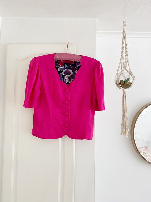 Vintage Pink Button Front Top