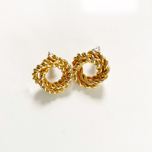 Vintage Twist Stud Earrings