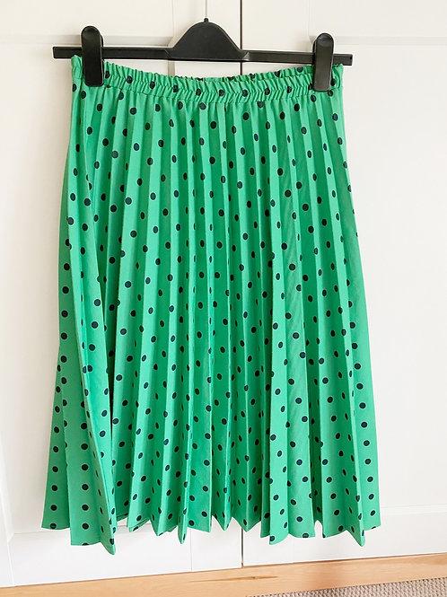 Vintage Green Polka Dot Skirt