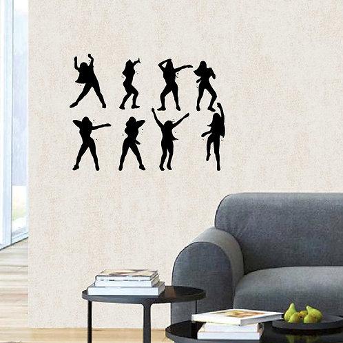 Zumba Dancers wall sticker