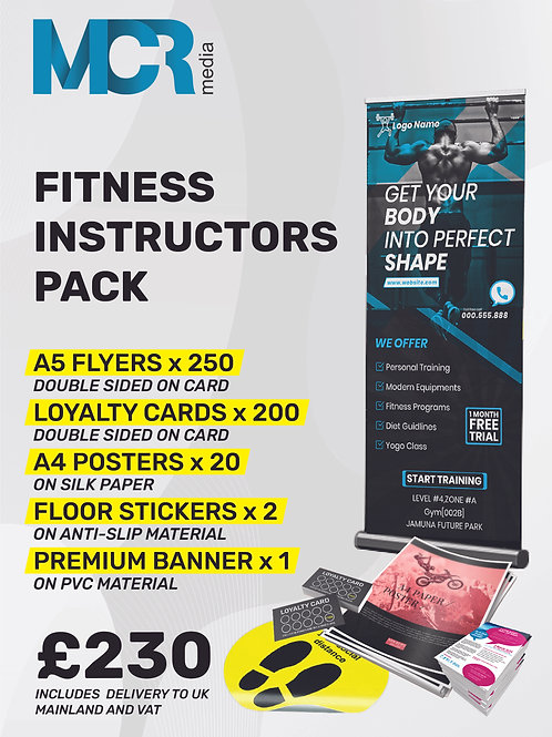 Fitness Instructor - promotion pack
