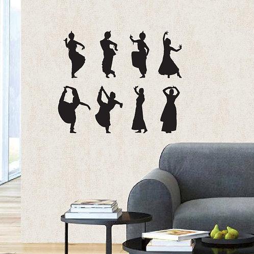 Indian Dancers wall sticker