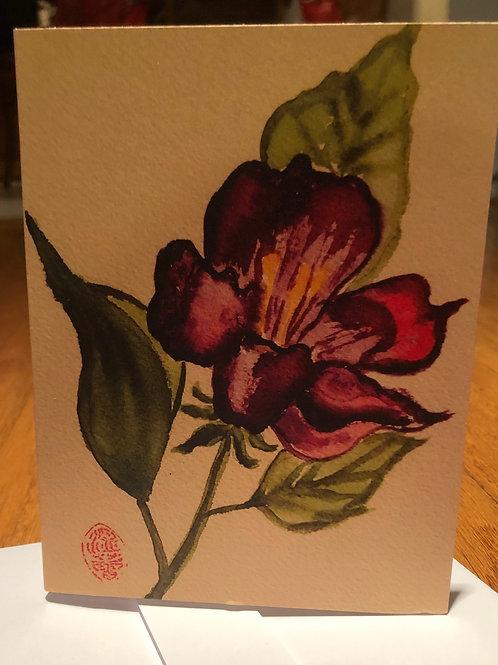 Purple Gardenia - Watercolor by Lei
