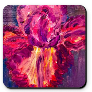 Set of 4 Artistic Coaster - My Iris