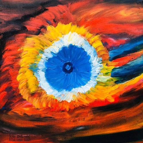 The God's eye Nebula Original Oil Painting