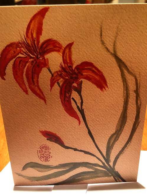 Day Lily - Watercolor by Lei