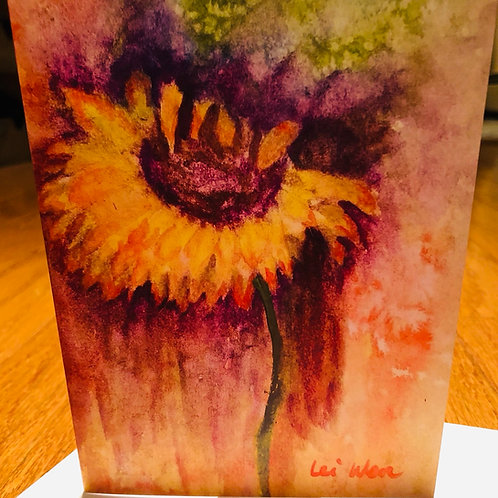 My Sunflower - Watercolor by Lei
