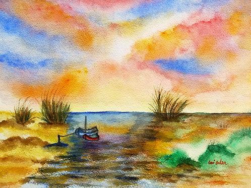 All rivers run to the sea Original Watercolor Paintings