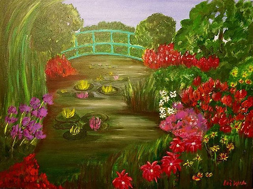 Monet Painting, Flower Painting, Landscape Painting, Garden Painting, Paintings on Canvas, Wall Art, Modern Art, Wall Decor,
