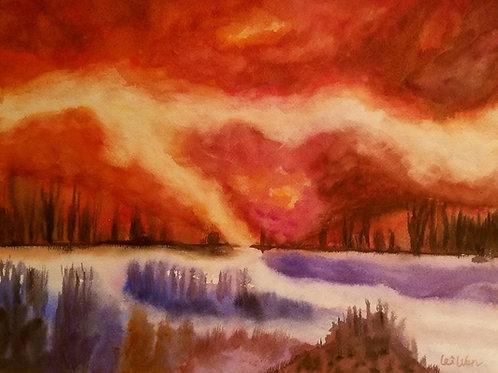 My Sunset Original Watercolor Paintings