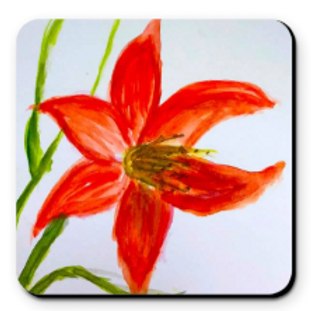 Set of 4 Artistic Coaster - Day Lily