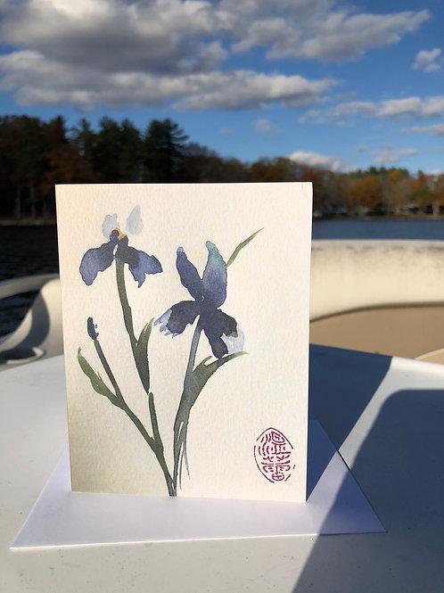 Iris Watercolor Greeting card