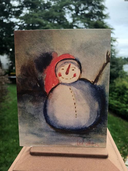 Happy Snow Man card